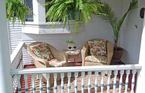 porch with two chairs